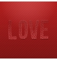Love red paper Word vector image