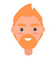 redhead male character avatar userpic vector image
