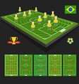 Soccer world cup team presentation vector image