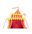 Traveling Circus Tent Retro Cartoon Icon vector image