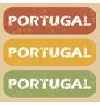 Vintage Portugal stamp set vector image