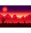Desert parallax background vector image