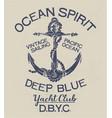 deep blue ocean spirit yacht club vector image vector image