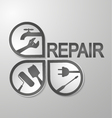 Symbol for repair vector image