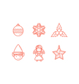 Christmas Icons 3 Line Expanded vector image