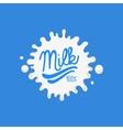 Double Underline Milk Product Logo vector image