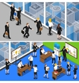 Business People 2 Isometric Banners vector image