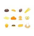 Cartoon Color Bakery Set vector image