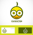 Character funny logo vector image