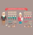 grandparents constructor vector image