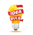 light bulb red ribbon idea concept vector image