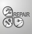 Symbol for repair vector image