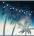 tropical summer party or festa junina greeting vector image