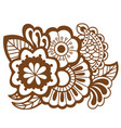 mehndi design patterns vector image