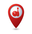 bowling icon red pointer vector image