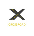 Crossroad icon road sign vector image