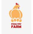 Chicken logo design template vector image