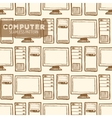 Computer seamless pattern vector image