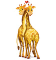 Two giraffes in love vector image
