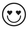 lovely face emoticon isolated icon design vector image