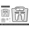 Bathroom scale line icon vector image