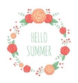cute floral summer frame vector image
