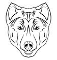 Ink sketch dog vector image