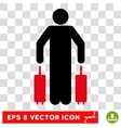 Passenger Luggage Eps Icon vector image