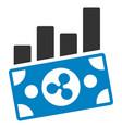 ripple banknote charts flat icon vector image