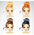 Set Of Event Retro Hairstyle vector image