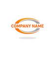 swoosh logo company vector image