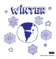 Winter Earth vector image