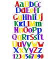 merry multicolored alphabet vector image