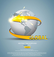 globe concept 3 vector image vector image