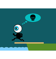 The blue eye suicide jump to sea vector image