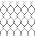 Seamless Chain Fence vector image vector image