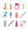 cartoon sex toys set vector image