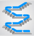 career path stairs vector image