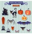 Happy Halloween stickers set for design vector image vector image