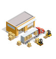 warehouse isometric template vector image