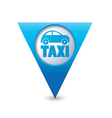 taxi icon map pointer4 blue vector image