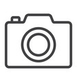 camera line icon web and mobile photo sign vector image