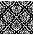 Foliage damask seamless pattern with leaf scrolls vector image