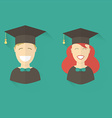 Happy Graduation Man and Woman Education Icons vector image