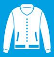 jacket icon white vector image