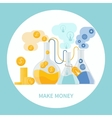 Make money concept vector image