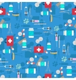 Veterinary set seamless pattern vector image