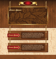 wooden background for website vector image