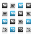 Folder Icons 1 Matte Series vector image