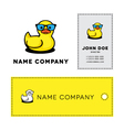 Duckling in sunglasses vector image vector image